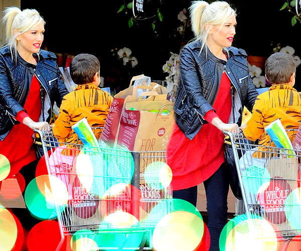 Gwen and Kingston : Grocery shopping at Whole Foods