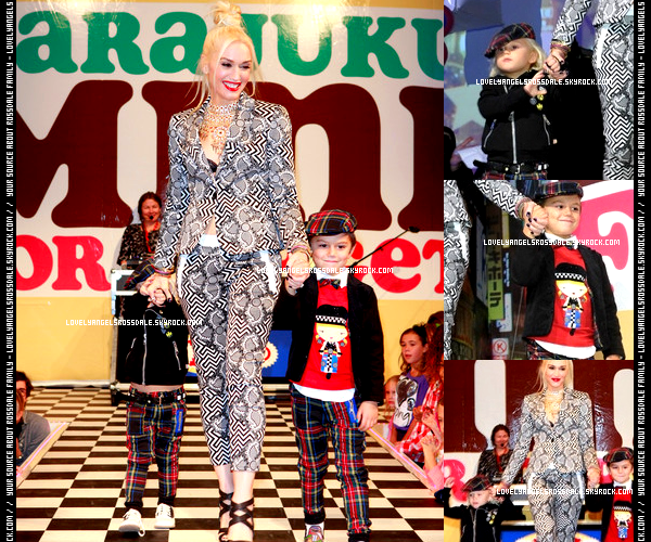 Gwen and The Boys : At Gwen's Harajuku Mini Launch Party // With their nanny : At the Pinz Bowling