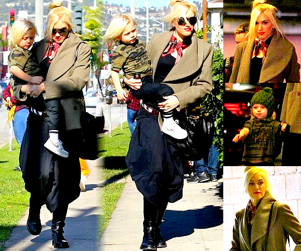 Gwen and Zuma : Day out in West Hollywood // With Kingston : Lunch in the Valley