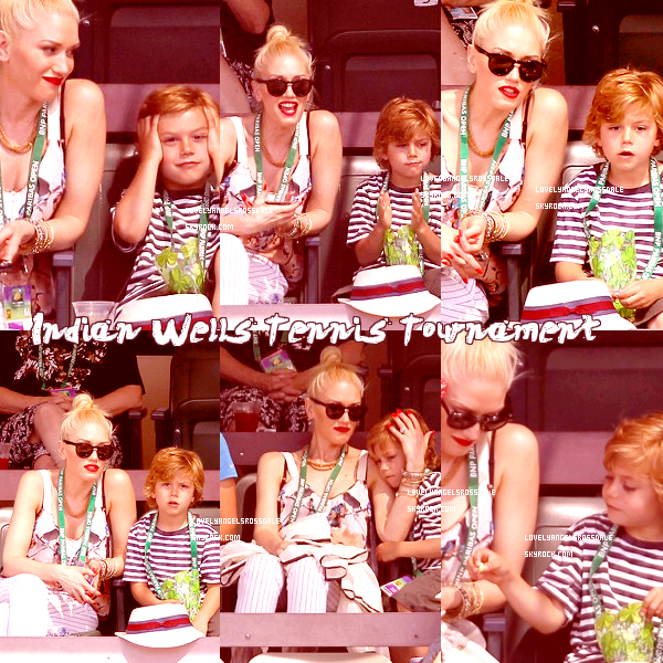 Gwen and Kingston : At the Indian Wells Tennis Tournament