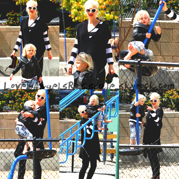 Gwen and The Boys : In a park in Santa Monica // All The Family : At the beach in Cabo San Lucas