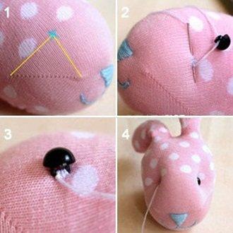 de la chausette a doudou(fabriquer un doudou avec chausettes orpheline ^^