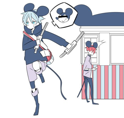 Akashi et Kuroko a disneyland xD
