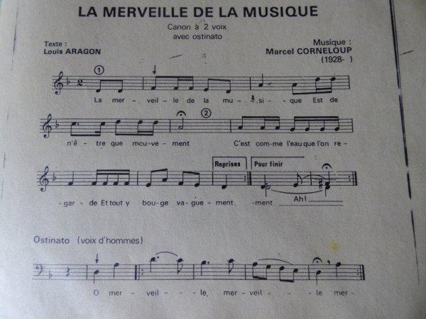 LA MERVEILLE DE LA MUSIQUE  <3  (souvenir de chorale)