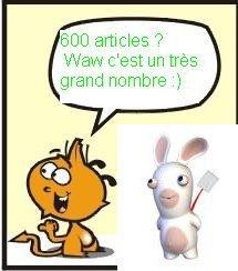 Youpi mon blog a 600 articles :)
