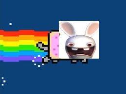 Un lapin Crétin s'est transformé en Nyan Cat !