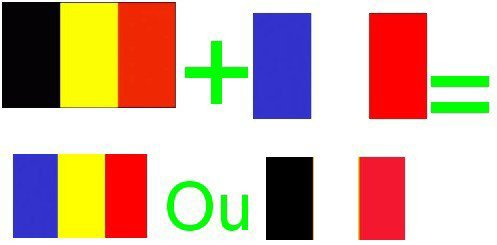 Si la France et la Belgique fusionait comment serait le drapeau franco-belge ?