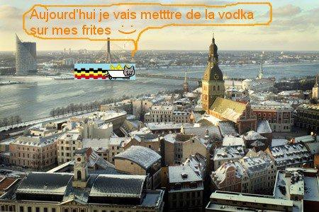 Nyan Cat belge en Russie :)