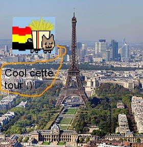 Nyan Cat belge à paris :D