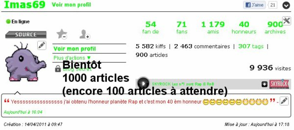 900èm article du blog :D