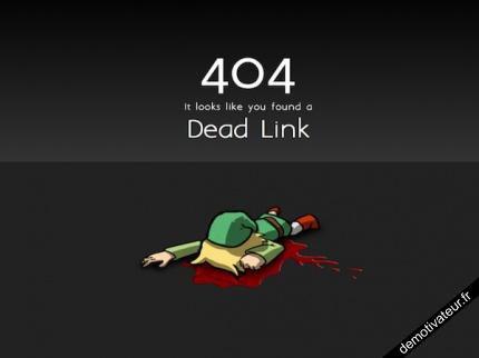 Error 404 dead Link