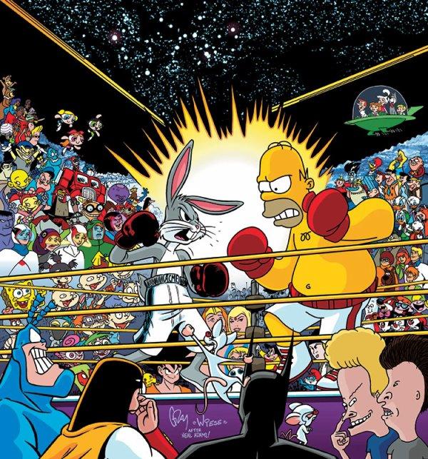 Homer Simpson vs Bugs Bunny !