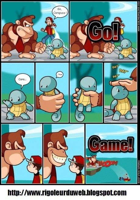 Donkey Kong contre le dresseur de Pokémon