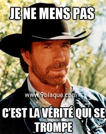 Chuck Norris ne ment jamais :D