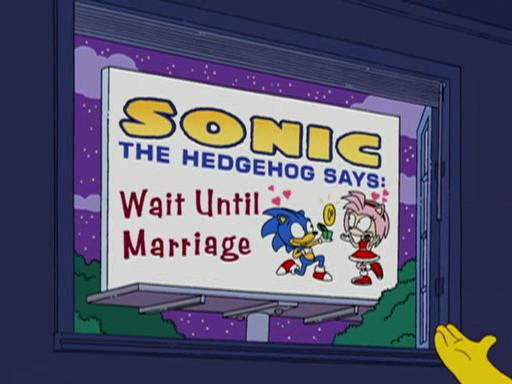 Sonic apparaît dans les Simpsons