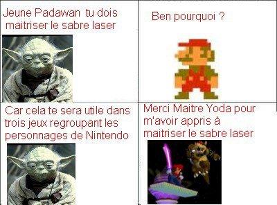 Mario doit maîtrisé les sabres laser