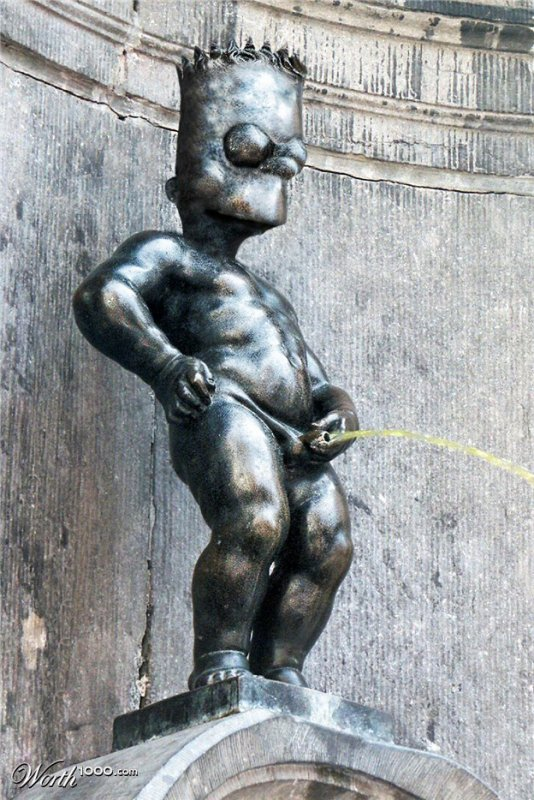 Bart Simpson version Manneken-Pis :D