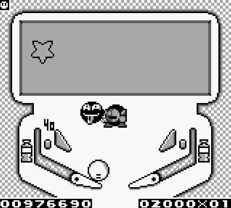 Meta Knight apparait dans Kirby's Pinball Land