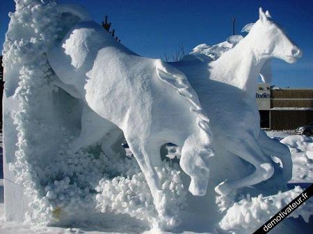 Chevaux de neige