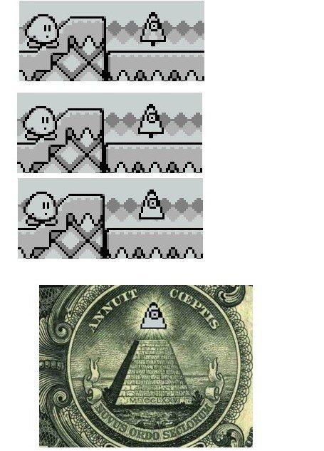 Des illuminatis dans Kirby's Dream Land 2 ?