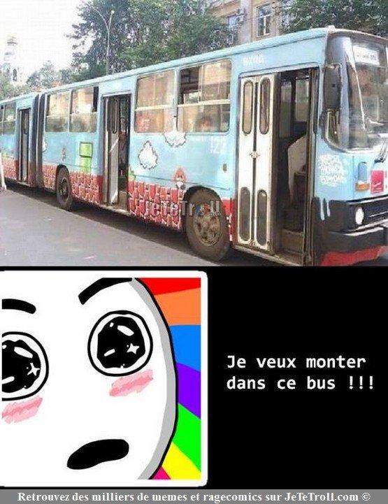 Les fans de Mario montez dans ce bus