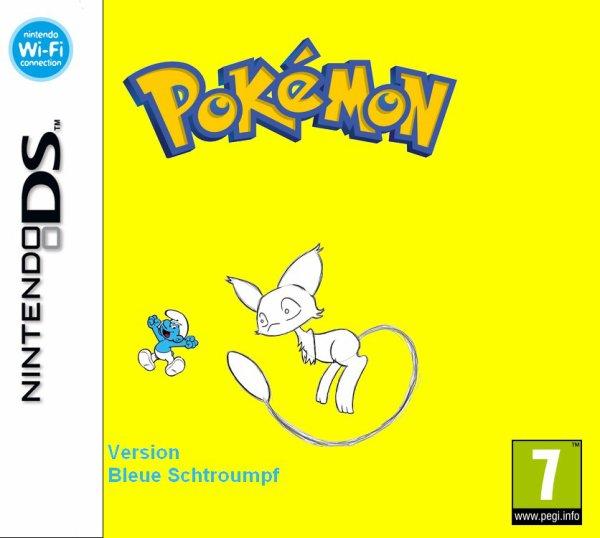Pokémon version bleue Schtroumpf