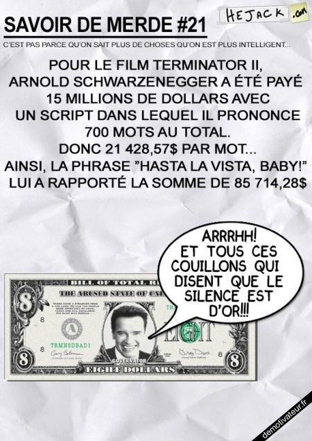 Le silence est d'or la parole est d'argent