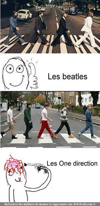 Les One Direction se moquent des Beatles
