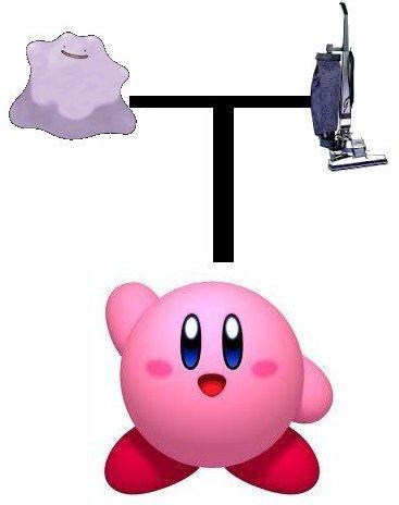 Kirby est le fils d'un Métamorph et d'un aspirateur