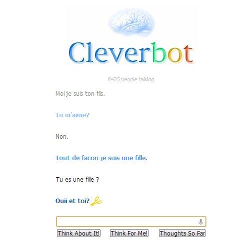 N'importe quoi cette discussion sur Cleverbot !