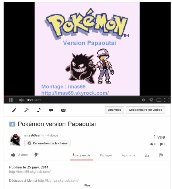Pokémon version Papaoutai