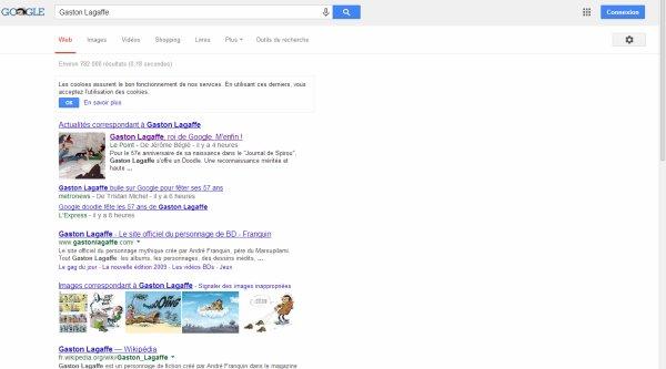 Gaston est sur Google !