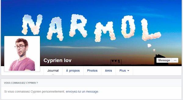 Tu peux envoyer un message à Cyprien SEULEMENT si tu le connais !