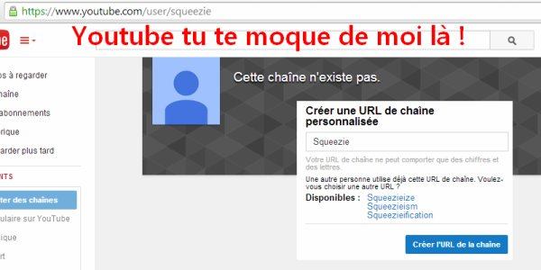 Suggestions pour Youtube