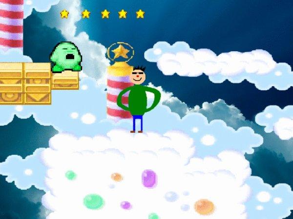 Moi et Kirby dans les nuages (clique ici pour voir le gif)