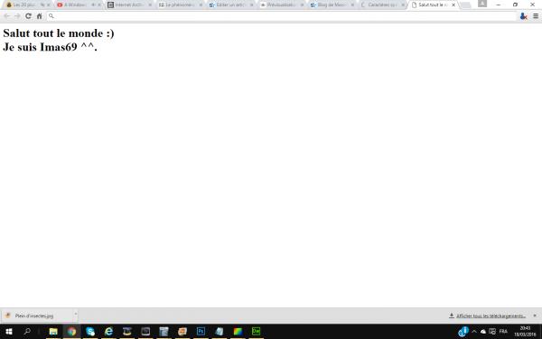Comment créer une page HTML ? - Quelques bases