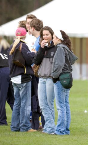 Kate Watches William Play In A St Andrews Rugby Match - 24 April 2005