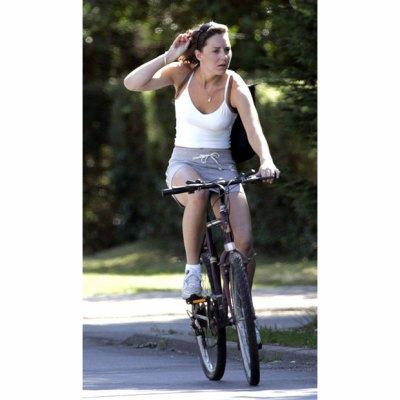 Kate Cycles In Bucklebury - 12 July 2005