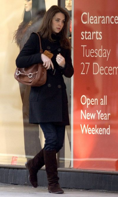 Kate Goes To After-Christmas Sales