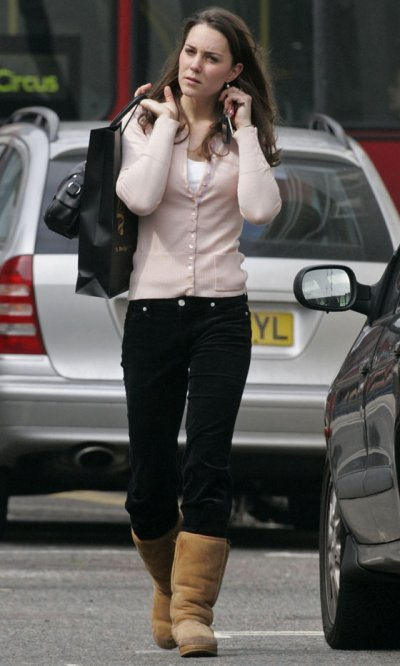 Out And About In Uggs Boots - 26 April 2006