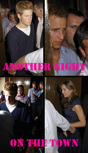 William, Kate And Harry At The Cuckoo Club - 24 August 2006