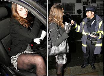 Kate Gets A Parking Ticket ... And A Lecture ! - 3 January 2007