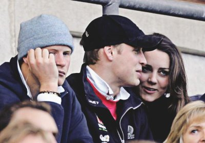 William, Kate And Harry At Twickenham Rugby Union Six Nations Match - 10 February 2007