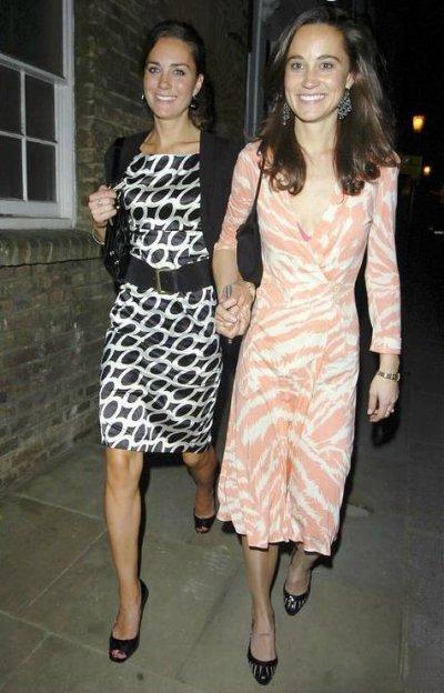 Kate At Boujis With Sister Pippa - 17 May 2007