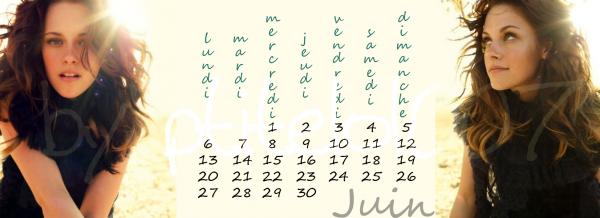 Calendrier du mois de juin
