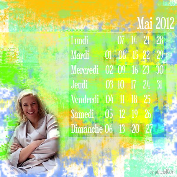 Calendrier Mai 2012