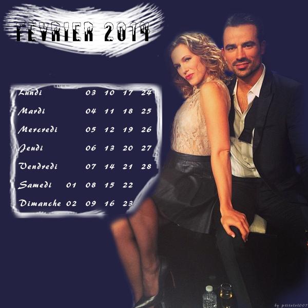 calendrier février 2014