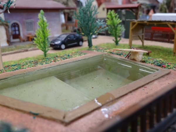 mise en eaux de la piscine
