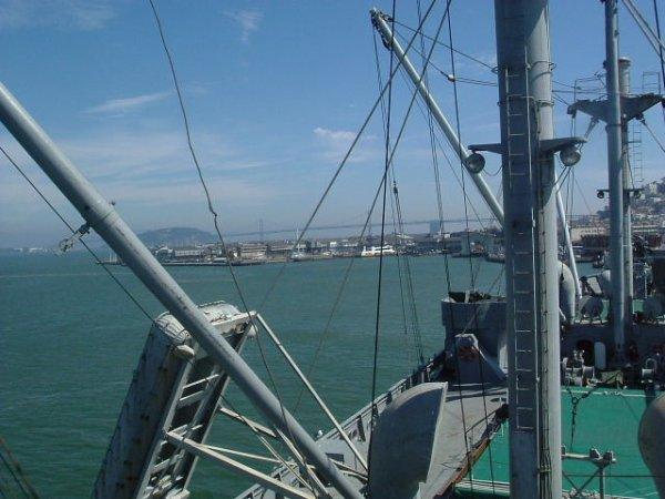 Visite d'un des  derniers Liberty Ship Jérémiah O'Brien baie de San Franscisco