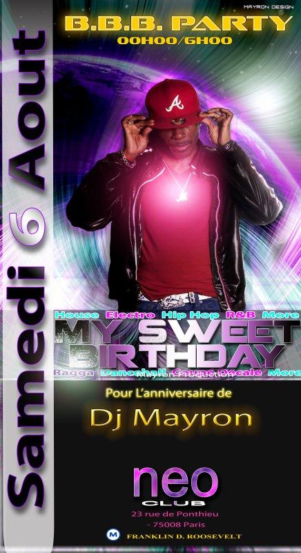 ANNIVERSAIRE DE DJ MAYRON